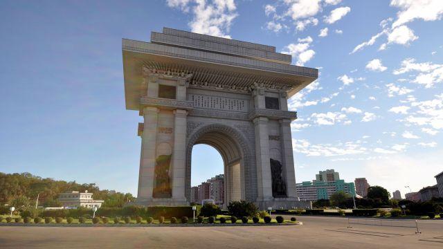 El arco de triunfo Corea del norte