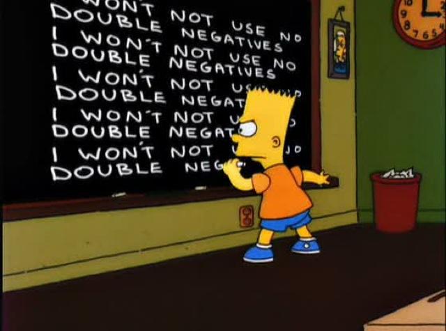doble negación