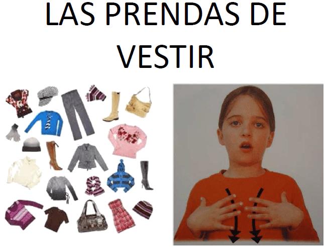 LAS PRENDAS DE VESTIR