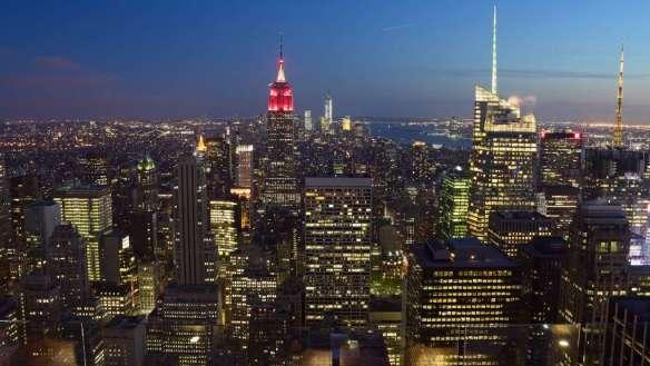 Vue sur la skyline de Manhattan depuis le sommet du Rockfeller Center