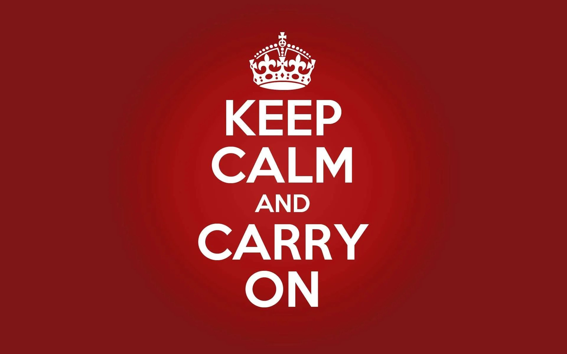 el imperativo en inglés keep calm and carry on