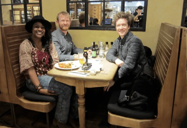 Daniel Welsch, Olly Richards and Gloria Atanmo in London