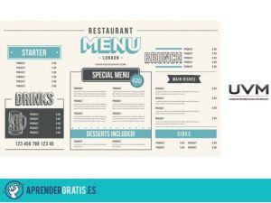 Aprender Gratis | Curso sobre diseño de menús para restaurantes