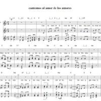 Cantemos al amor de los amores. Canto cristiano