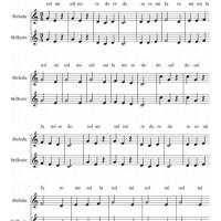 Cucu canción infantil. Notas flauta, partitura.
