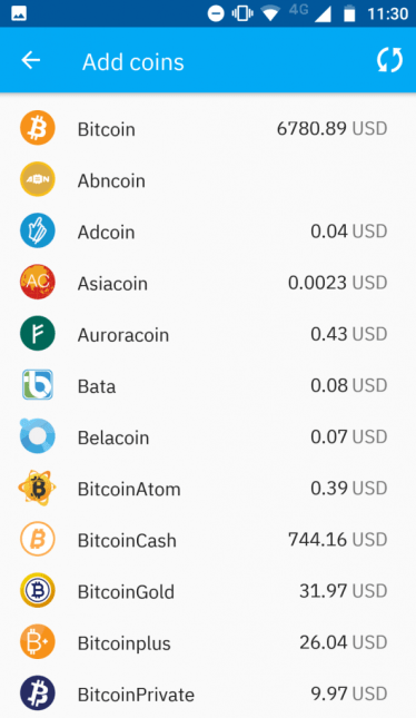 You need to select the cryptocurrency to create a wallet at Coinomi