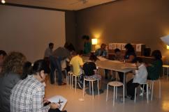 Actividad plástica en TEAller de Arte en Familia de la Sala Rekalde