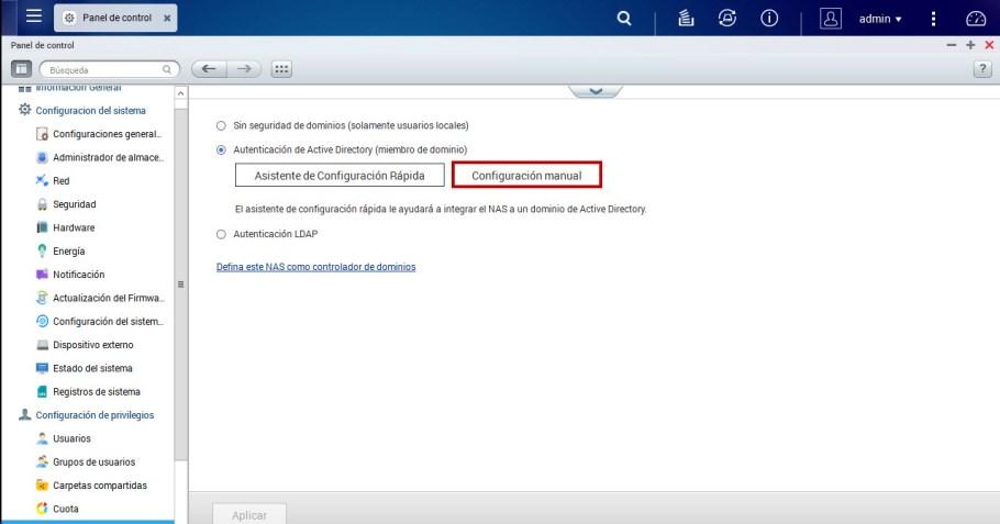 seguridad dominio qnap 2