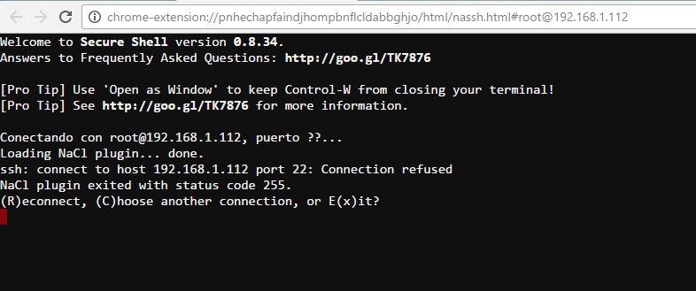 Error Servicio SSH