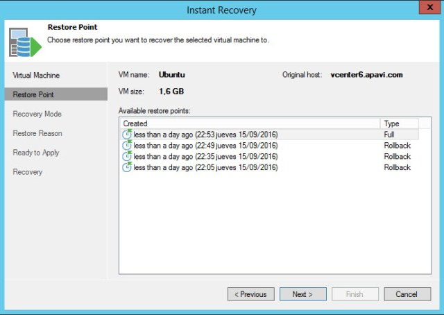 Veeam Quick Backup 5