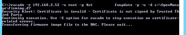 racadm firmware update