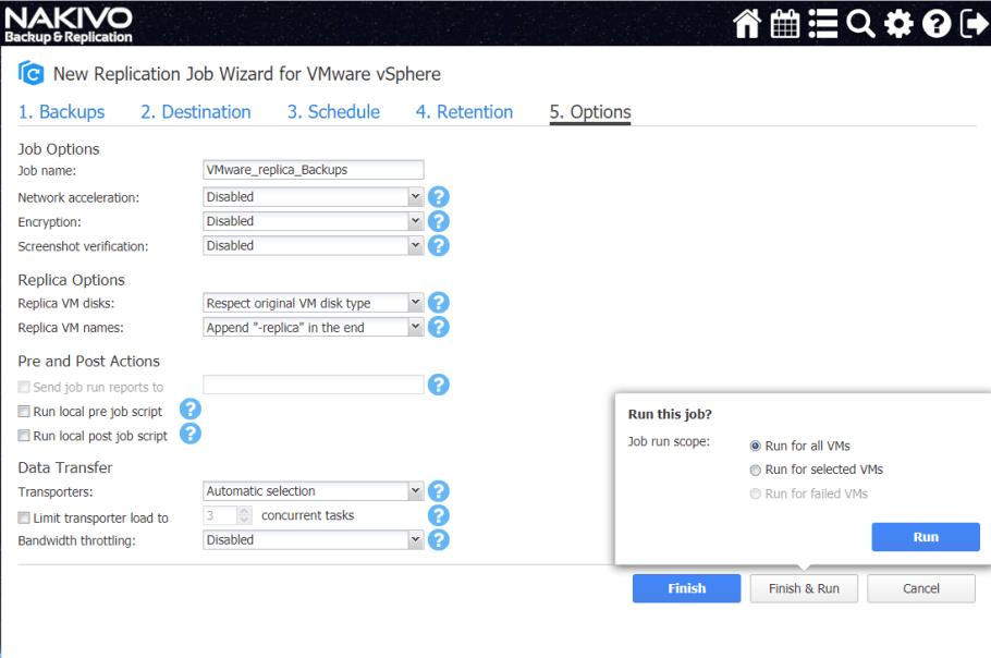 Nakivo options
