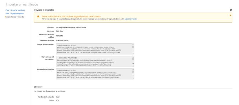Configurar Client VPN Endpoint en AWS Amazon asistente