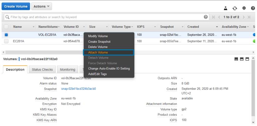recuperar ficheros de una instancia attach volume