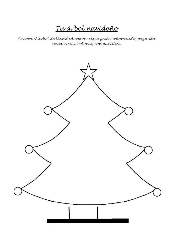 Arbol Navidad Para Pintar. Finest Arbol De Navidad Afuera With Arbol ...