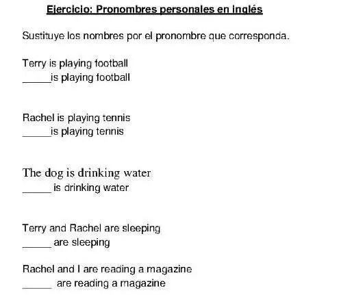 Pronombres personales en inglés - Aprendiendo con Julia
