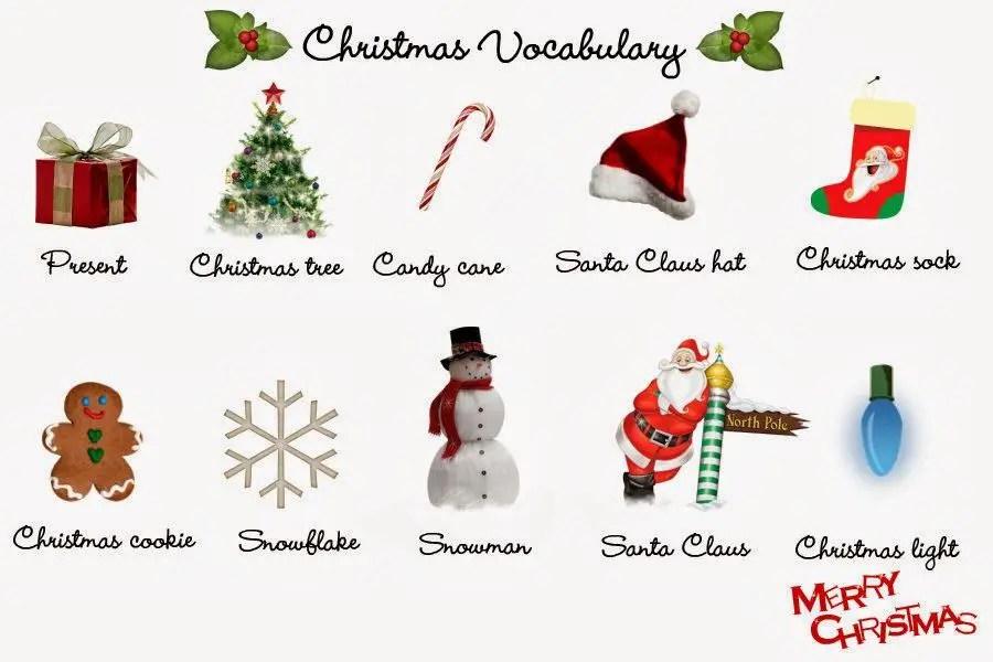 Vocabulario De Navidad Aprendiendo Con Julia