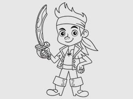 Image Result For Captain Jake Coloring
