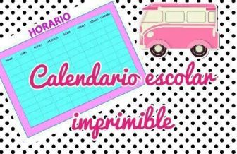 CALENDARIO ESCOLAR IMPRIMIBLE COLORES