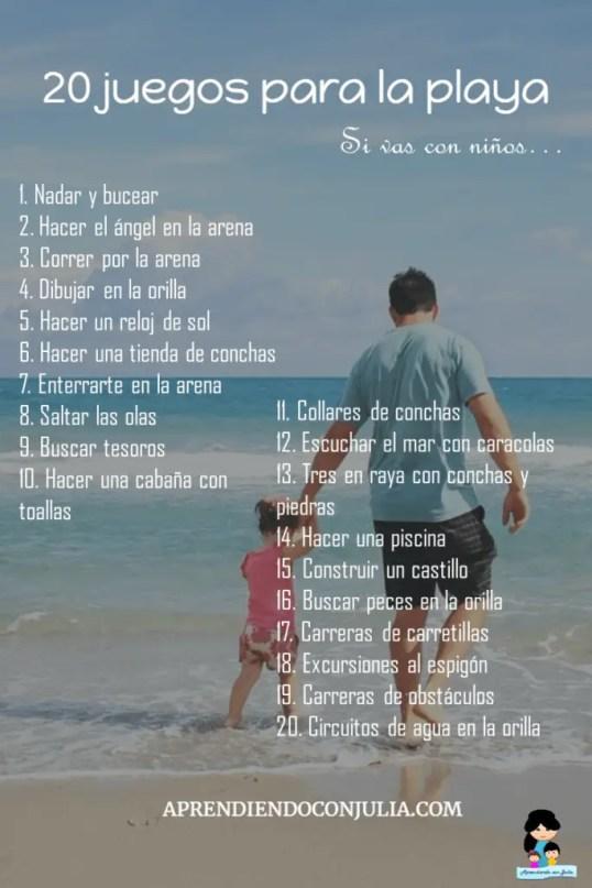 20 juegos para la playa con niños