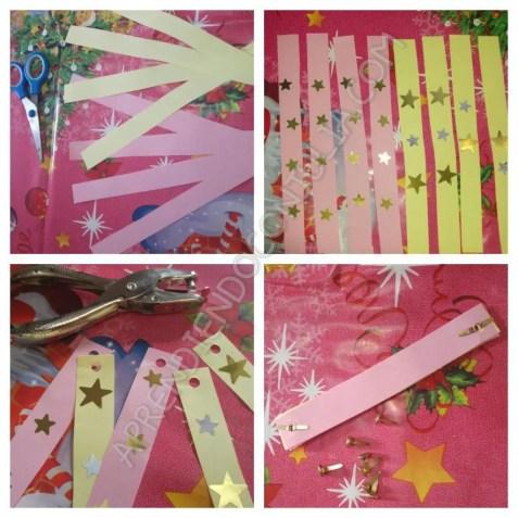 adorno papel arbol navidad manualidad para niños