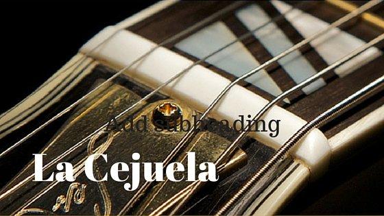 La Cejuela (nut en Inglés) [GuitarPedia]