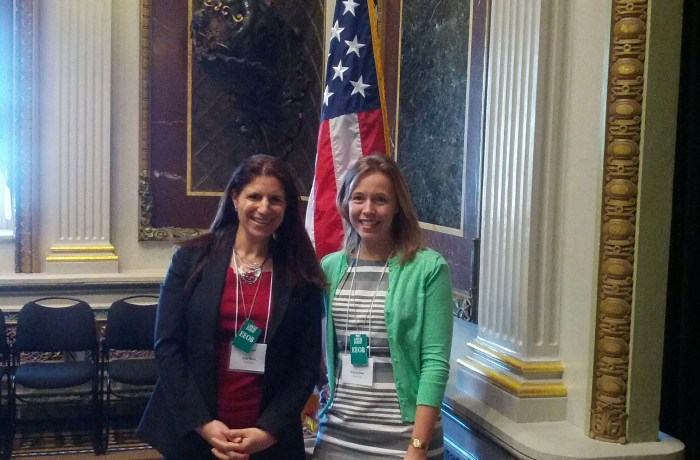 Maybrooks.com cofounders Debi Ryan and Stacey Delo at The White House