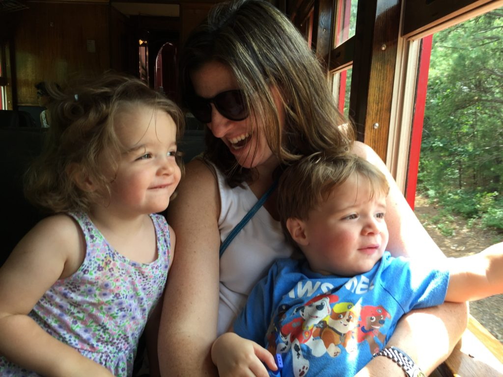 Kathleen Harris of Levo League with her twins.