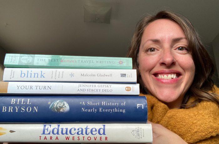 Jordan Martindell sharing favorite books for working mothers