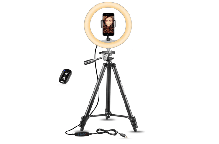 Selfie Ring Light by UBeezie for Zoom and virtual interviews