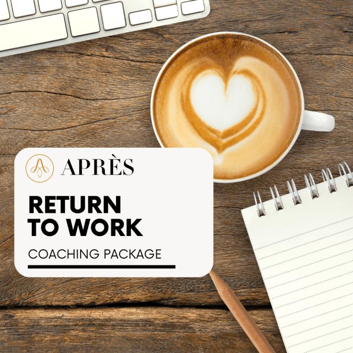 Return to work coaching for career breaks