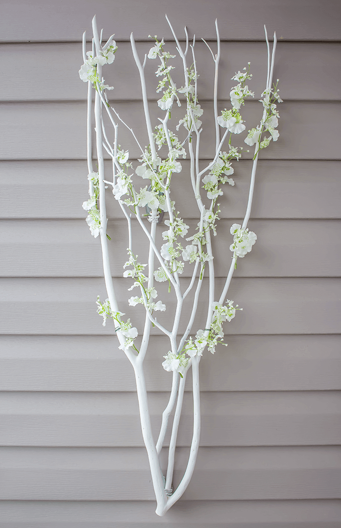 Create this simple, minimal Scandi-Inspired blossom branch in under an hour. A lovely, soft touch to any wall space, indoors or out, or as part of a tablescape.