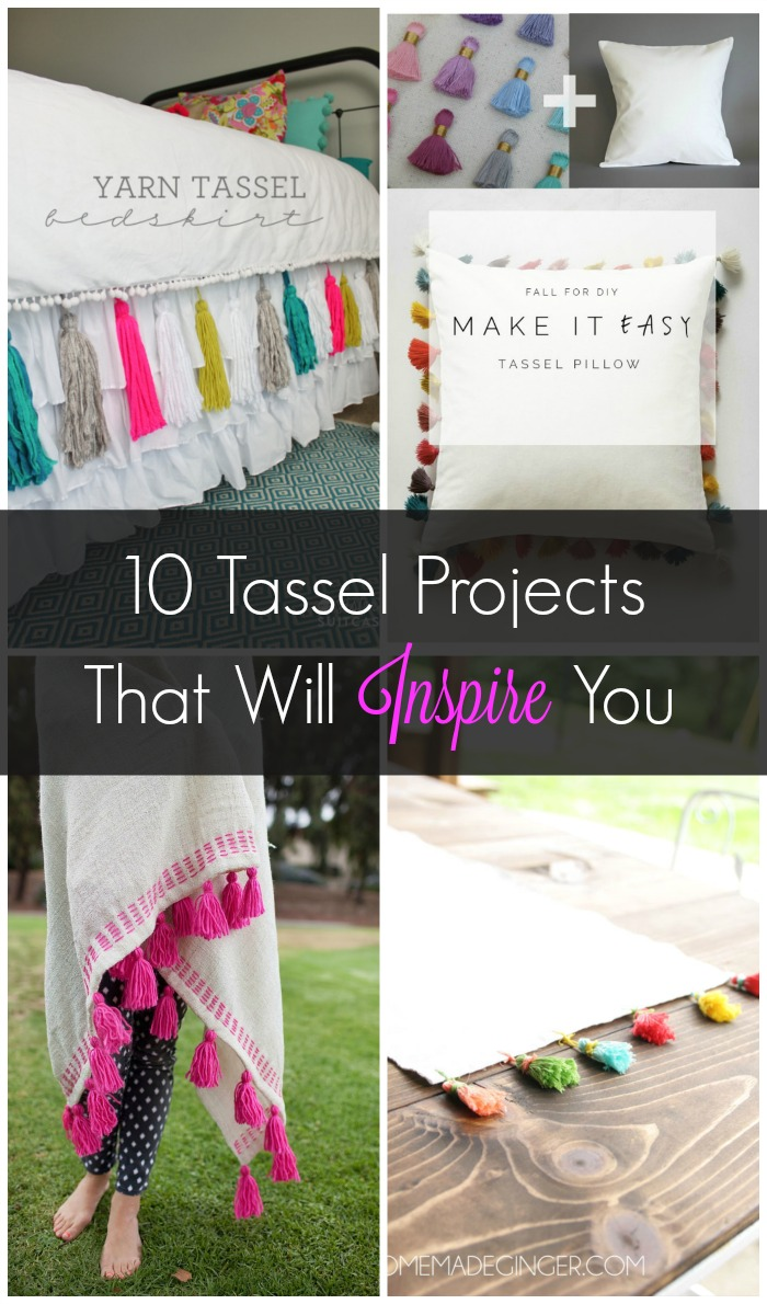 It's easy to add a pop of style & colour at home with these 10 clever & creative tassel projects. When it comes to home styling, it's all in the details!