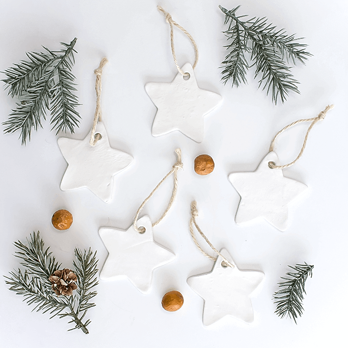 Air dry clay Christmas Ornaments. - Air Dry Clay Christmas Ornaments 5 Different Ways (& A Craft Blog
