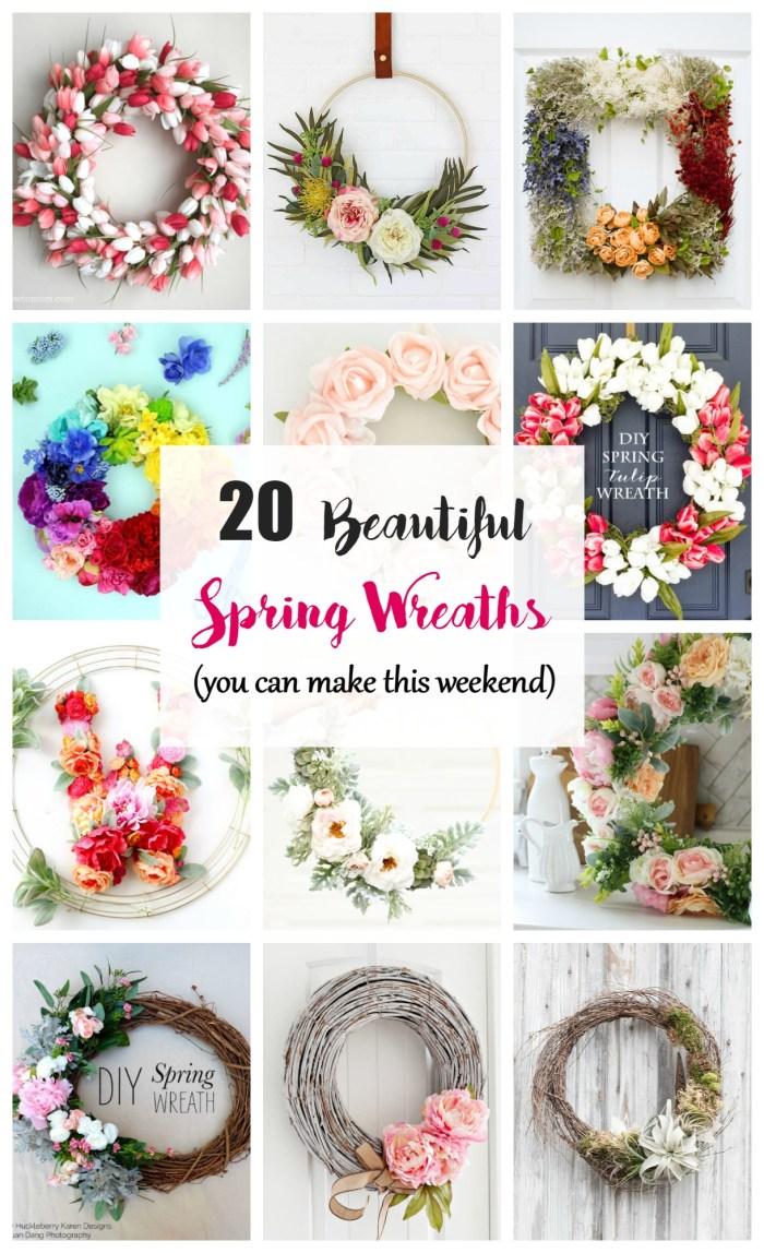 20 beautiful spring wreath ideas - Wreath Design Ideas