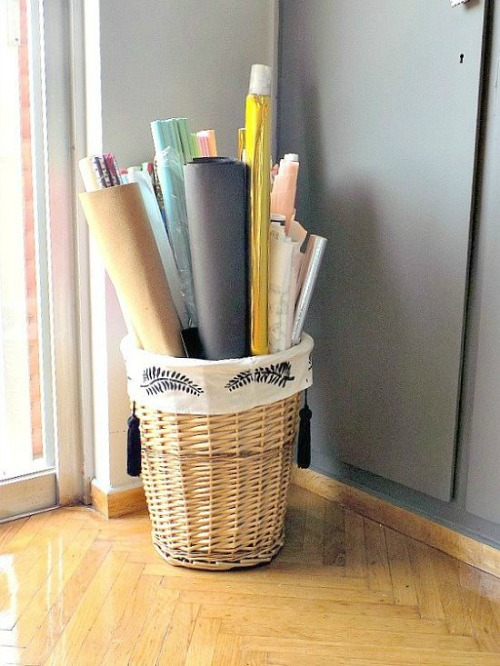 Laundry-basket-storage
