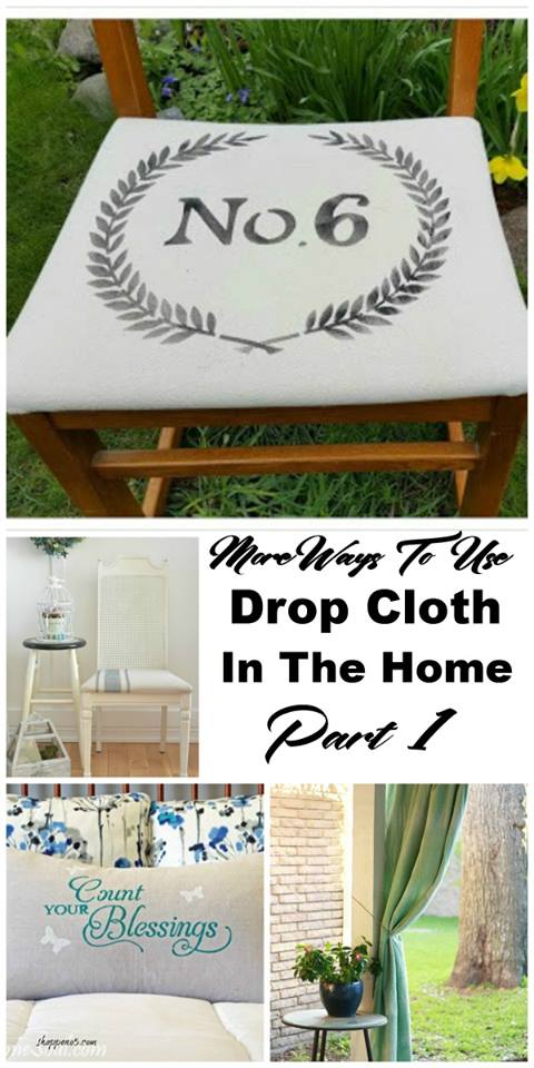 drop cloth DIYs