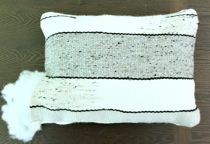 DIY Woven Pillow - stuff pillow.