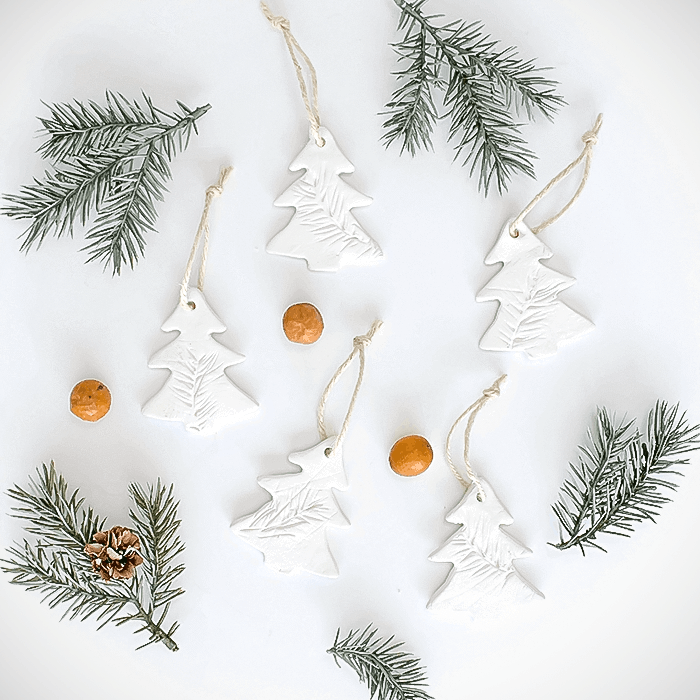 Air Dry Clay Christmas Ornaments 5 Different Ways A Craft Blog Hop A Pretty Fix