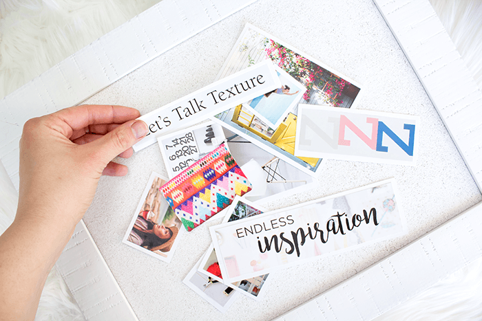 How To Make a Vision Board - map out your layout.