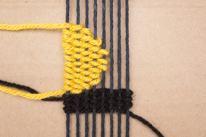 Weaving scallop or half circle designs in your handmade bookmark is easy.
