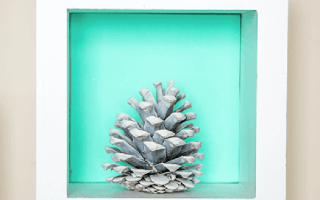 Simple White Pinecone Decor Ideas