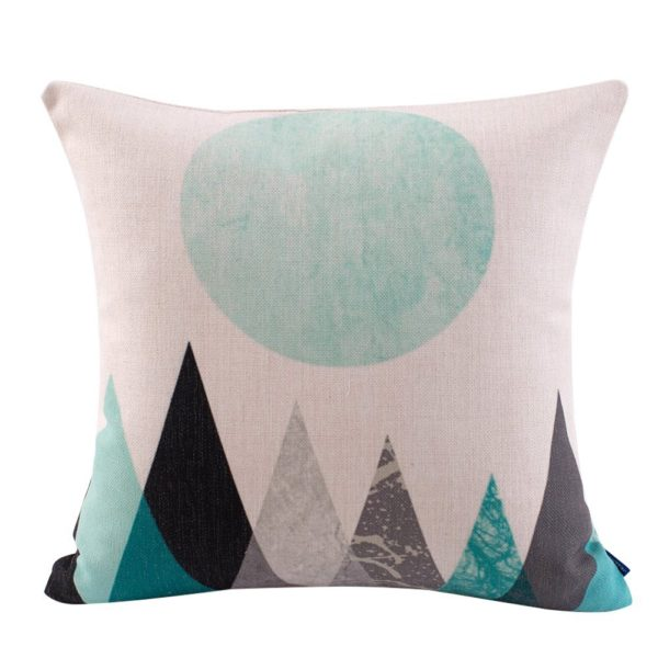 Mountain Range Pillow Cover // 10 Geometric Print Pillow Covers Under $10.