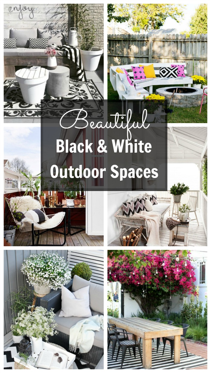 Beautiful Black and White Outdoor Spaces.