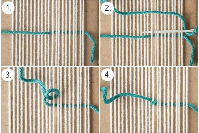 Woven Coaster Craft - Create Center Knot