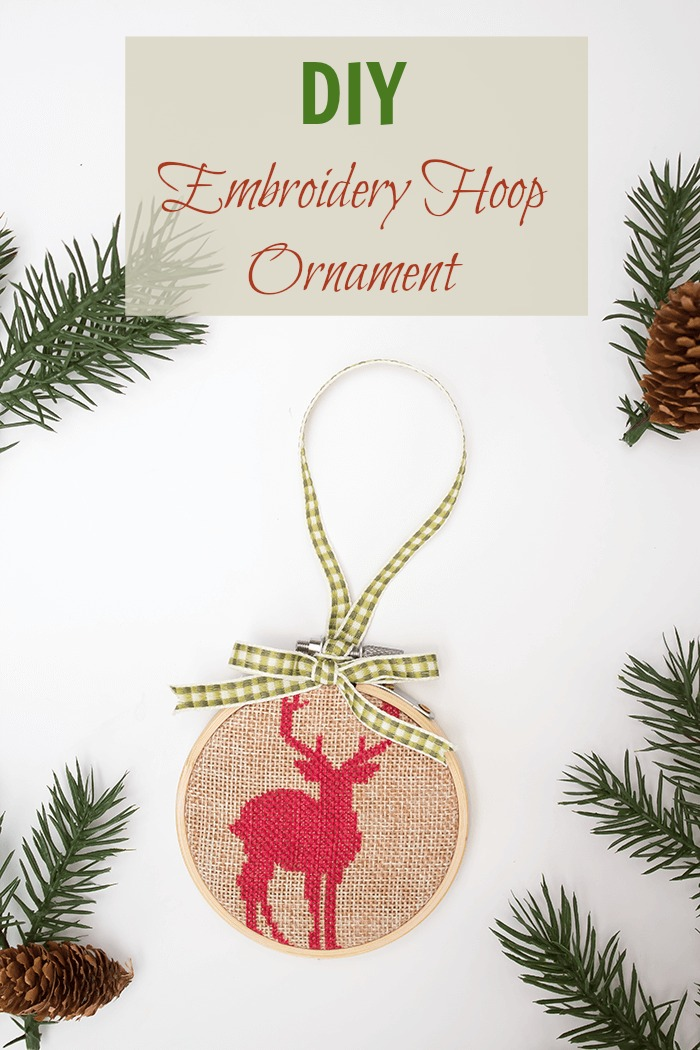 Make this simple Statement Embroidery Hoop Ornament this Christmas in just 5 minutes! See all the other ornament inspirations at the 2016 Ornament Exchange and Blog Hop #2016OrnamentExchangeBH