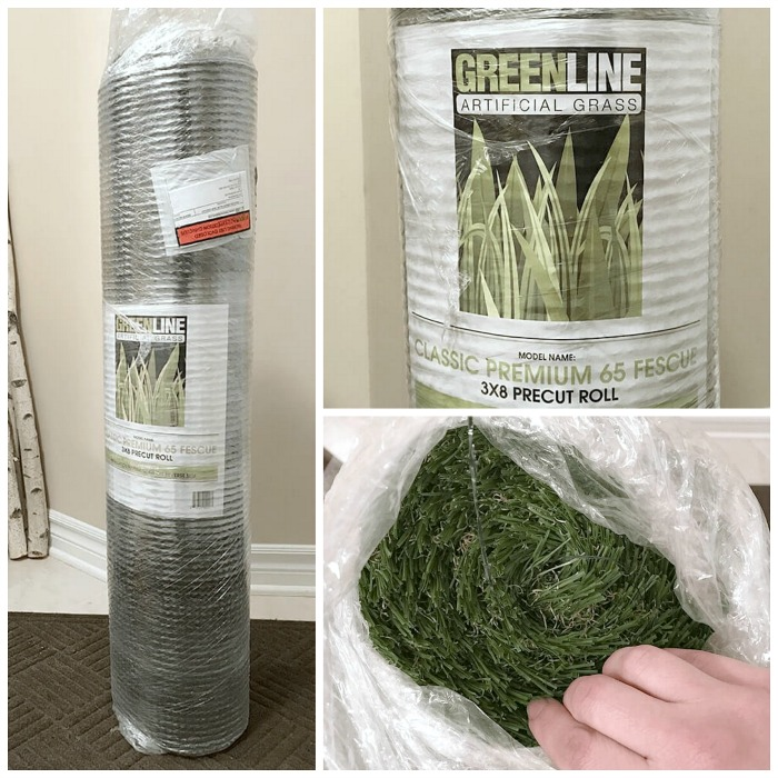 GreenLine artificial grass will arrive as a roll.