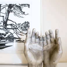 Hands Sculpture // Embracing the Weird (and Wonderful) in Home Decor.