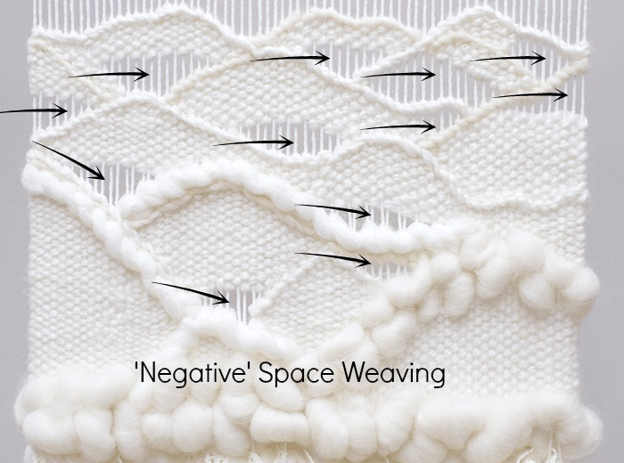 DIY wavy weaving using negative space.