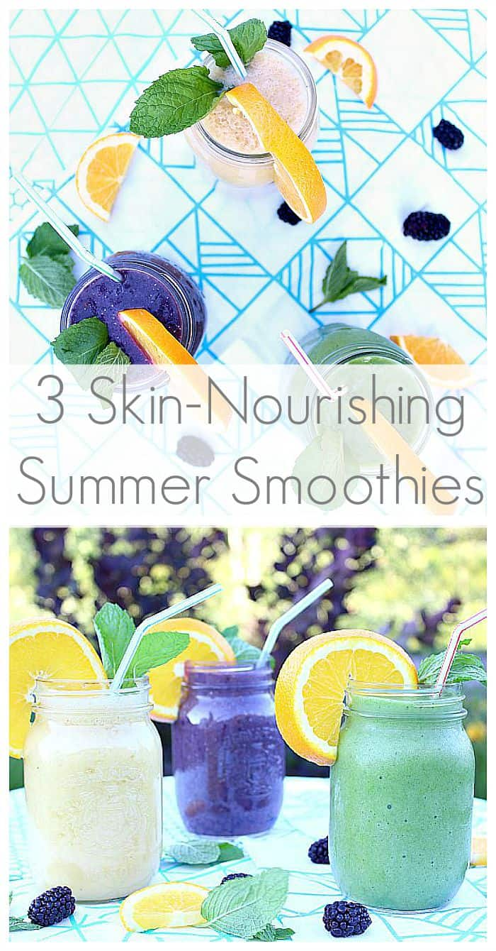 3 delicious skin nourishing smoothies - recipes at aprettyfix.com
